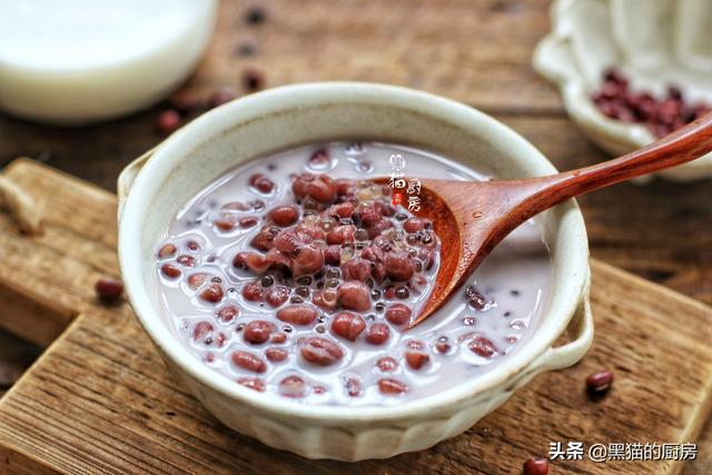 红豆西米露美味爽口的窍门,许多人都做错,西米煮化成水,太可惜