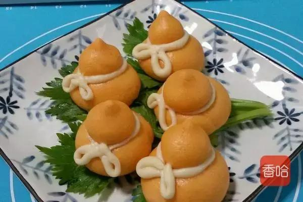 超极可爱的小葫芦南瓜馒头,养胃促消化,大人小孩都喜欢